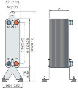 ALFA LAVAL, AC HEAT EXCHANGER, AC112-ACH112
