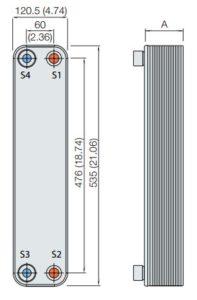 ALFA LAVAL, CB HEAT EXCHANGER, CB65-CBH65