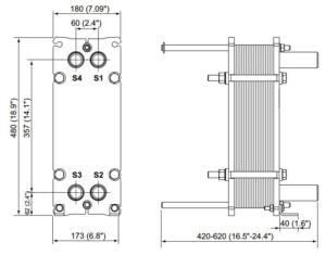 ALFA LAVAL, IndustrialLine HEAT EXCHANGER, M3 drawing