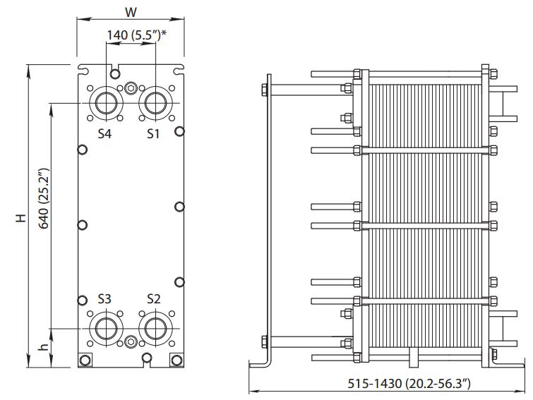ALFA LAVAL, IndustrialLine HEAT EXCHANGER, M6 drawing