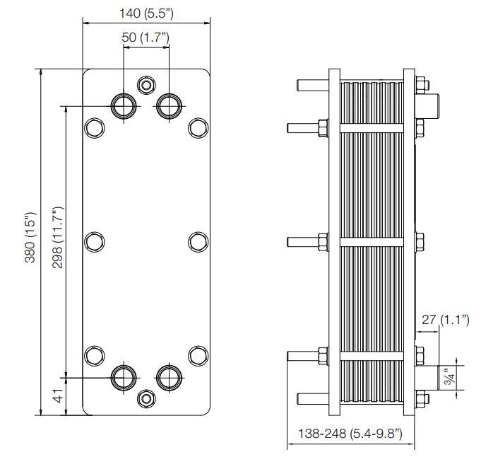 ALFA LAVAL, IndustrialLine HEAT EXCHANGER, T2 drawing