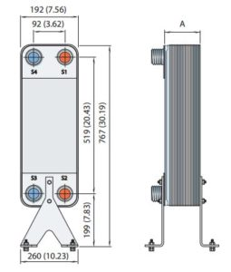 AlFA LAVAL, AlfaNova HEAT EXCHANGER, AlfaNova76-HP76 drawing