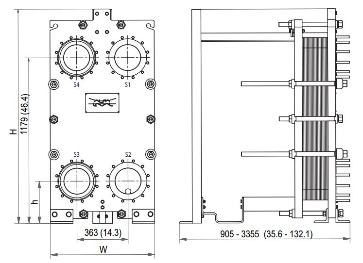 ALFA LAVAL, IndustrialLine HEAT EXCHANGER, TK20 W.JPG drawing