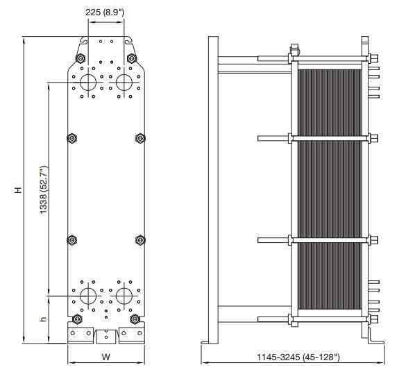 ALFA LAVAL, IndustrialLine HEAT EXCHANGER, TL10 drawing