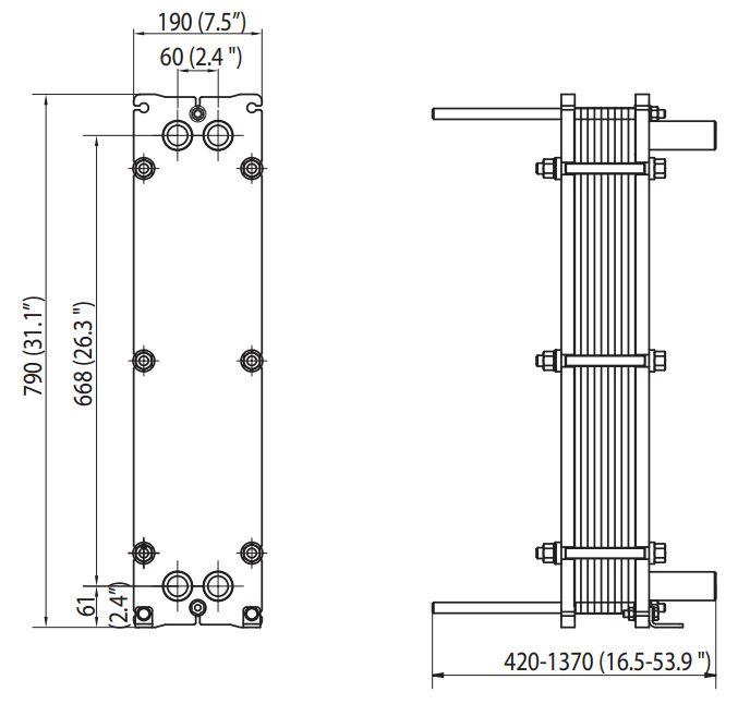 ALFA LAVAL, IndustrialLine HEAT EXCHANGER, TL3 drawing