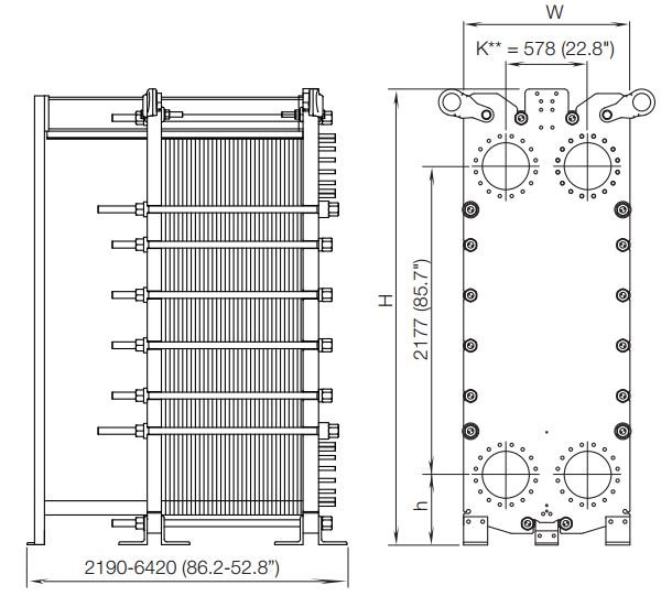 ALFA LAVAL, IndustrialLine HEAT EXCHANGER, TL35 drawing