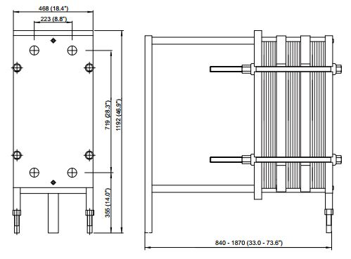 ALFA LAVAL, MLine HEAT EXCHANGER, 10 drawing