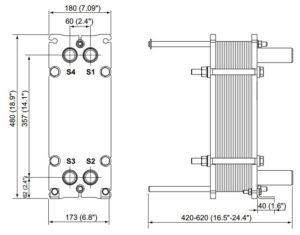 ALFA LAVAL, IndustrialLine HEAT EXCHANGER, M3 drawing