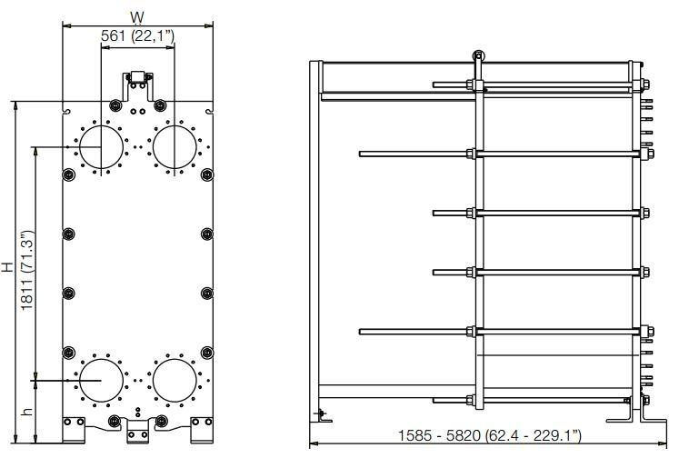 ALFA LAVAL, IndustrialLine HEAT EXCHANGER, MA30 drawing