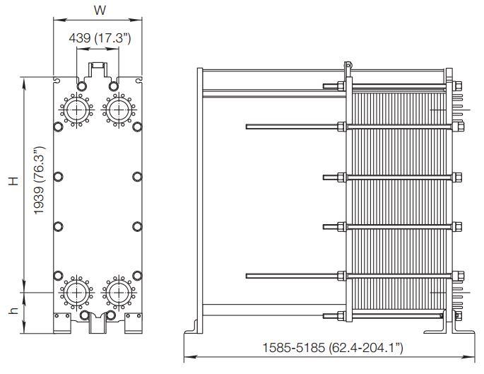 ALFA LAVAL, IndustrialLine HEAT EXCHANGER, MX25 drawing