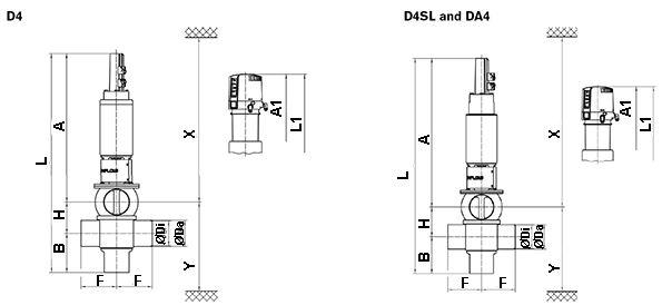 DA4 Series Dimensions 1