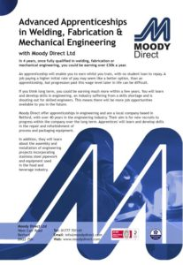 Moody Direct Apprentice Leaflet
