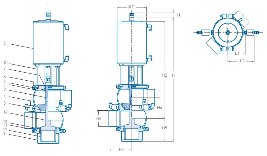 Pentair Keystone Balanced Double Seal Valve F269B+ Technical Specification