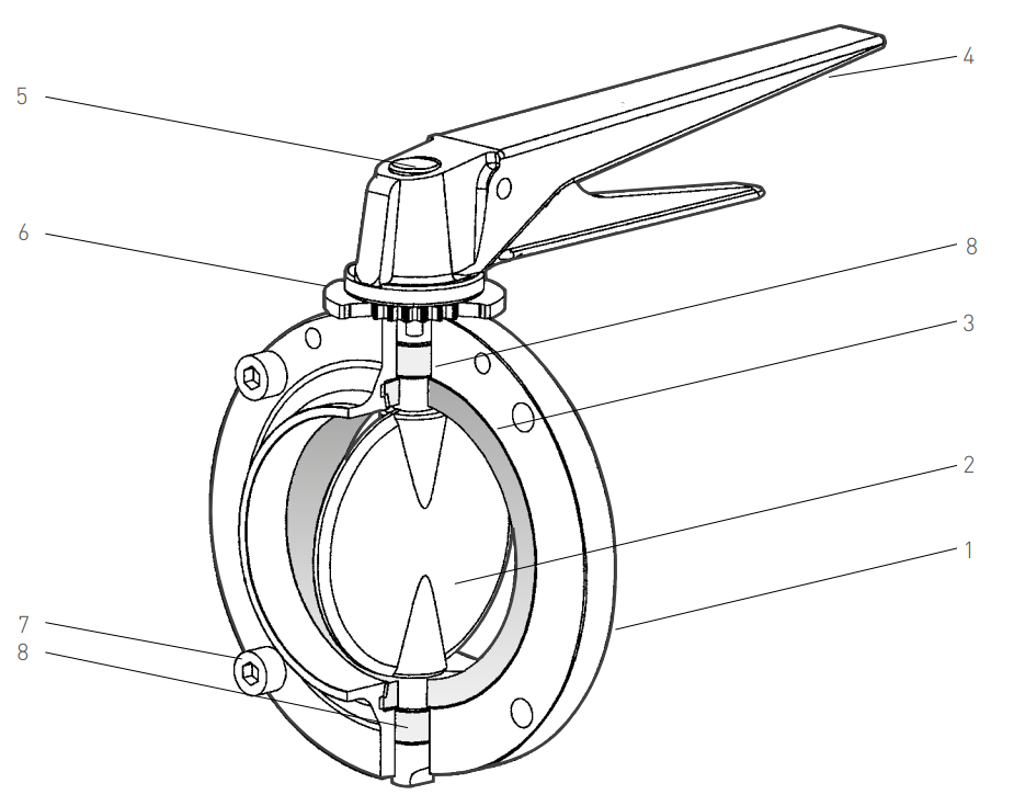Pentair Keystone Butterfly Valves F250-251 Product Information