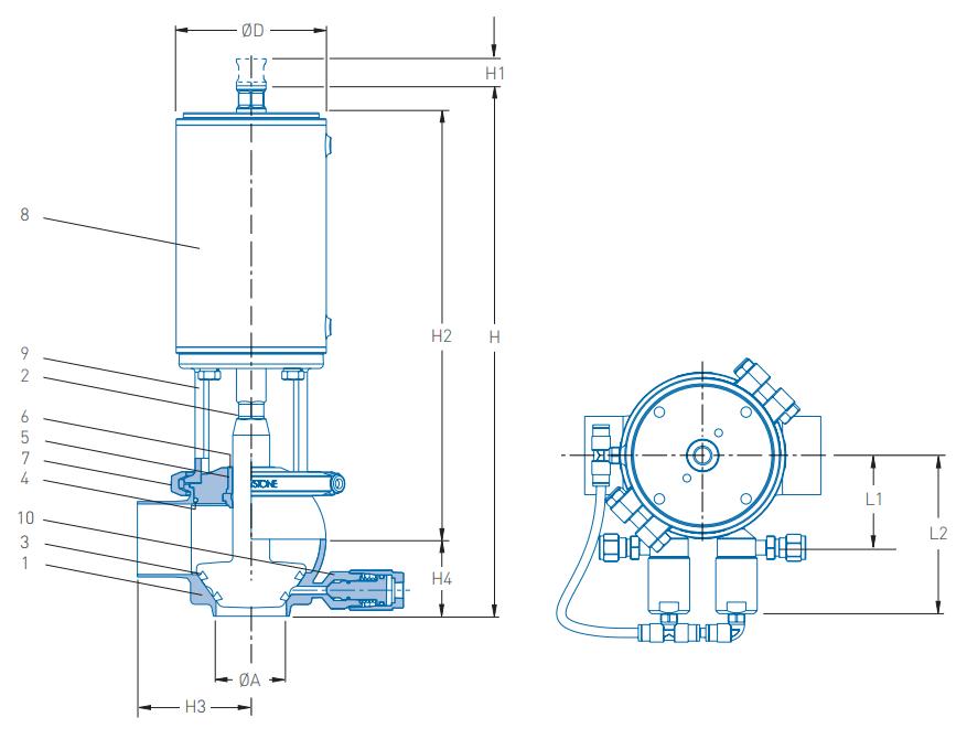 Pentair Keystone Double Seal Valve F269J+ Technical Specification